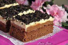 Prajitura cu crema de ciocolata si rom Romanian Desserts, Romanian Food, Sweet Cakes, Something Sweet, Tiramisu, Cake Recipes, Sweet Treats, Cheesecake, Sweets