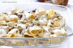 Pasta+al+forno+con+Funghi+e+Scamorza