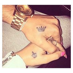 31 Couples With Matching Tattoos That Prove True Love Is Permanent ❤ liked on Polyvore featuring accessories