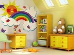 Kids Rainbow Wall Murals Decorating Ideas   Best Wall Murals And Ideas