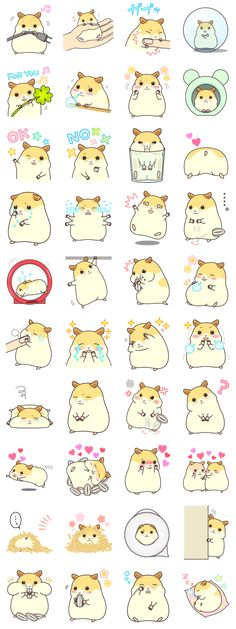 Cute gesture of hamster is now stamp. Love a small place, sunflower seeds, mischief.It is a day-to-day of a hamster clunker a little mischievous. Animals And Pets, Baby Animals, Cute Animals, Kawaii Stickers, Cute Stickers, Kawaii Drawings, Cute Drawings, Hamster Cartoon, Hamster Stuff