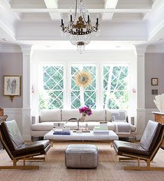 How gorgeously serene and spring-y does this Windsor Smith-designed room look?
