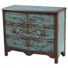 Pulaski 5 Drawer Chest   ~  painted furniture folk art stencil