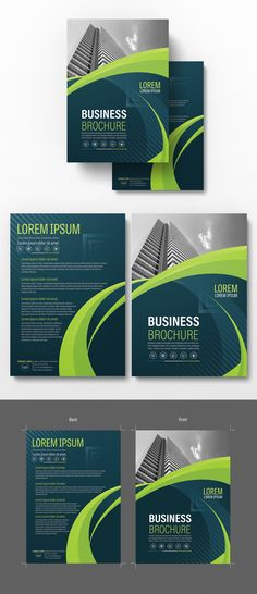 Brochure Cover Layout with Blue and Green Accents 8 - image Brochure Cover, Brochure Layout, Brochure Design, Brochure Template, Flyer Template, Brochure Inspiration, Folder Design, Booklet Design, Catalog Design