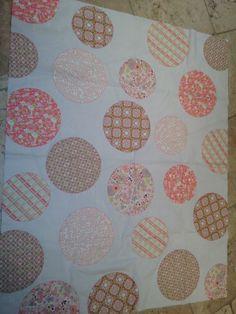 baby quilt modern dots