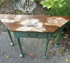 10 DIY Home Decor Tricks: Painting With Wood Stain: 80's Table Gets a Makeov...