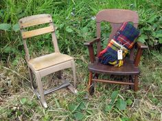 vintage school chair & rocking chair. have. love.