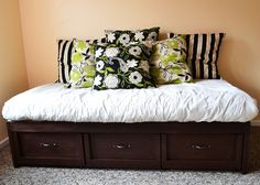 Ana White | Build a Daybed with Storage Trundle Drawers | Free and Easy DIY Project and Furniture Plans