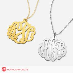 Personalized hand made Silver monogram pendant. Name Necklace, Dog Tag Necklace, Pendant Necklace, Monogram Online, Monogram Jewelry, Online Coupons, Coupon Codes, Personalized Gifts, Silver