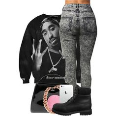 Tupac back, created by brianawashere on Polyvore