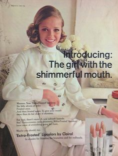"""Clairol """"Extra Frosted"""" Lipstick 1968"""
