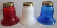 Kerr Bicentennial Red White and Blue Liberty Bell Fruit / Mason Jars