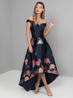 Chi Chi Hazel Floral High Low Dress, Navy/Multi in 2020 Hi Low Dresses, Pretty Dresses, Beautiful Dresses, Bridal Dresses, Prom Dresses, Formal Dresses, Dress Outfits, Fashion Dresses, Floral High Low Dress