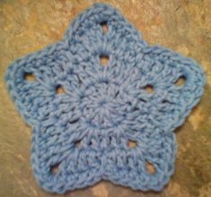 """One Crochet day at a Time """"BlueDragonFly Designs on a Hook"""": MY SIMPLE STAR COASTER"""