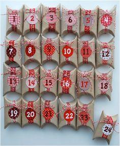 Calendarios de adviento bonitos y caseros - EnFangArte