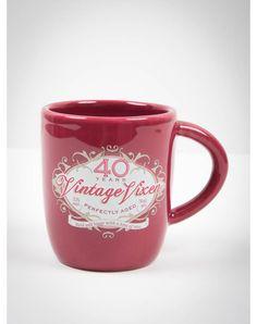'40 Vintage Vixen' Mug Gag Gifts, Funny Gifts, Pink Zebra Birthday, 40th Bday Ideas, Party Lights, Funny Tees, Vixen, Body Jewelry, Mugs