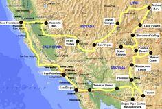 California | Viaggio nel sud-ovest degli USA. California, Arizona, Grand Canyon ...