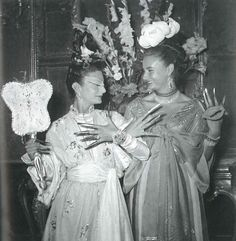 Mme. Arturo Lopez-Willshaw and Betty Clair at the Ball given by Carlos de Beistegui at the Palazzo Labia