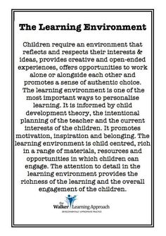 Teachers need to be flexible practitioners, who enable students to learn at their own depth, complexity and pace. This requires creating rich and engaging lessons that cater for various learning styles (e. linguistic, visual, auditory and kinaesthetic). Learning Stories, Play Based Learning, Learning Quotes, Learning Through Play, Learning Centers, Early Learning, Auditory Learning, Learning Ability, Reggio Classroom