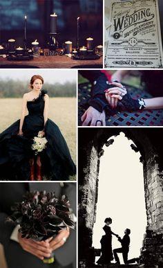 gothic wedding black inspiration wedding dress steampunk punk rock n roll bride