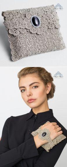 Мадам Круже : Клатч-браслет «Кошачий глаз»