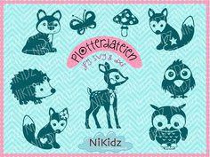 Bastelanleitung - Plottervorlagen NiKidz-Tiere Plotterdatei - ein Designerstück von NiKidz bei DaWanda