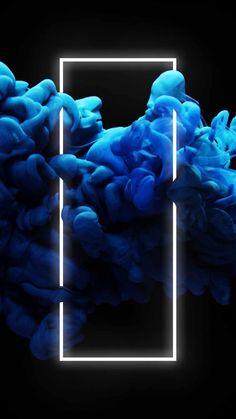 Neon Blue Smoke - IPhone Wallpapers