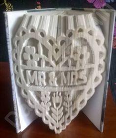 Heart Mr & Mrs Cut and Fold Pattern