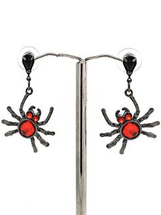 #Spider #Earrings Perfect for #Halloween!  Free gift box & Free shipping! http://www.ftstyles.com/?utm_content=buffer0dcd4&utm_medium=social&utm_source=pinterest.com&utm_campaign=buffer#!product-page/c1p9b/b549eec7-3561-b75f-d381-59e0187038da