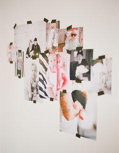 photos gathered with washi tape