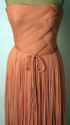 Evening dress Madame Grès (Alix Barton) (French, Paris 1903–1993 Var region)…