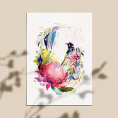 Watercolor Art Lessons, Watercolor Artwork, Watercolor Illustration, Watercolour Tutorials, Hand Smocking Tutorial, Australian Native Flowers, Natalie Martin, Flower Art, Art Flowers