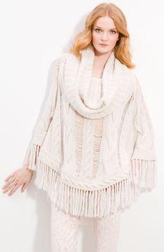 Haute Hippie Sweater Poncho, cute for winter