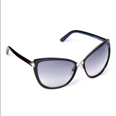 Tom Ford Cat-eye Sunglasses - BRAND NEW Tom Ford black and purple cat-eye sunglasses. Protect pretty eyes from a case of the squints as well as from harmful UV rays with this sleek pair of sunglasses that bring a designer touch that's undeniably chic. * Includes sunglasses, cleaning cloth and case * 100% UV protection Tom Ford Accessories Sunglasses