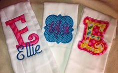 Set of 3 burp cloths by Gracynsbowtique on Etsy, $25.00