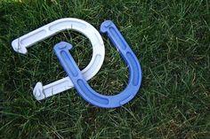 Play horseshoes