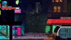"""Mockups, or the """"Please say this is going to be a game"""" thread Pixel Art Background, Game 2d, 8 Bit, Game Design, Cyberpunk, Concept Art, Video Games, Gifs, Rain"""