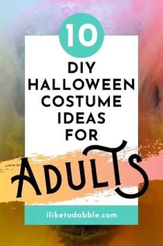 Browse this list of cheap and easy DIY halloween costume ideas for adults #DIY #Halloween #Costumes #HalloweenCostumes