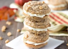 Pumpkin Butterscotch Cookie Sandwiches - Blahnik Baker