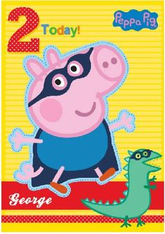 Kids Birthday Cards, Handmade Birthday Cards, 3rd Birthday Parties, Pig Birthday, Happy Birthday, George Pig Party, Aniversario Peppa Pig, Cumple Peppa Pig, Pig Cupcakes