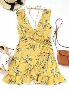 GET $50 NOW | Join Zaful: Get YOUR $50 NOW!https://m.zaful.com/plunging-neck-ruffled-belted-floral-dress-p_489997.html?seid=8410997zf489997