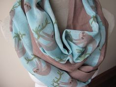 Sloth scarf sloth gifts Fashion Accessory Women by Scarves2012