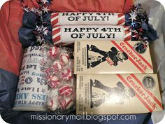 This is full of great ideas for 4th of July and also for military care packages. It's really a site for care packages for missionaries.