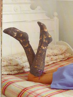 Nicki Trench crochet patterns, Geek Chic Crochet, Long Socks, from Laughing Hens
