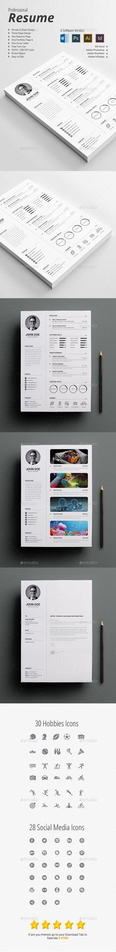 Professional Resume / CV Template PSD, Vector EPS, InDesign INDD, AI Illustrator. Download here: http://graphicriver.net/item/professional-resumecv/14807758?ref=ksioks
