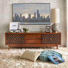 Our Best Living Room Furniture Deals - Entertainment Retro Tv Stand, Sliding Cabinet Doors, Tv Stand And Entertainment Center, Shops, Living Room Tv, Dining Room, Tv Stands, Shabby Chic Furniture, Dresser Furniture