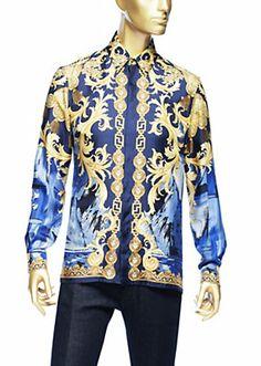 Versace - Barocco Camouflage silk shirt