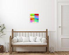 Metaphysical Decor & Design by ArtekFatuek on Etsy Canvas Wall Decor, Room Wall Decor, Home Decor Bedroom, Dream Bedroom, Study Nook, Colorful Wall Art, Aesthetic Room Decor, Modern Wall Decor, Living Room Art