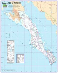 Map Of The Sea Of Cortez Showing Baja California And The