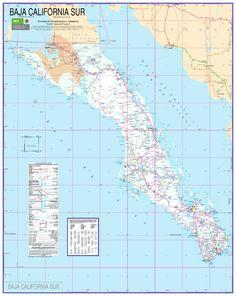 Maps Of Baja On Pinterest Baja California Rosarito
